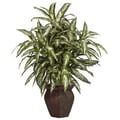 Nearly Natural Aglonema Desk Top Plant in Decorative Vase