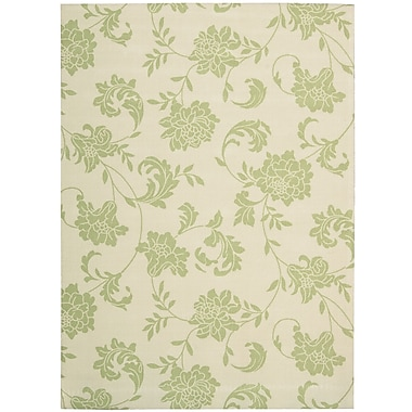 Nourison Home & Garden Light Green/Ivory Indoor/Outdoor Area Rug; 10' x 13'