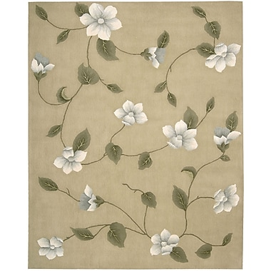 Nourison Julian Light Gold Area Rug; 5'3'' x 8'3''
