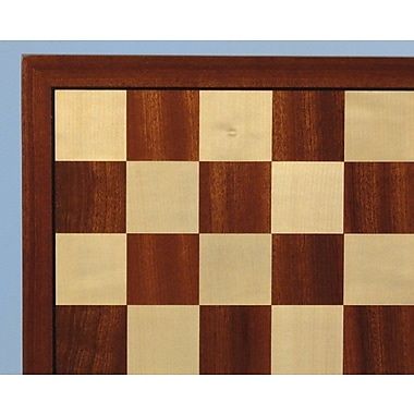 WorldWise Chess 17'' Sapele and Maple Veneer Chess Board