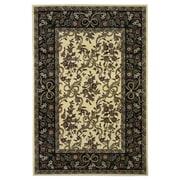 KAS Rugs Cambridge Ivory / Black Floral Area Rug; 1'8'' x 2'7''