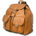 David King Flap Top Double Front Pocket Sling Bag; Tan