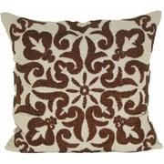 Design Accents Damascus Linen Throw Pillow; Copper