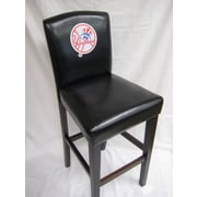 Imperial MLB 29.5'' Bar Stool with Cushion (Set of 2); New York Yankees