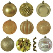 Brite Star Variety Christmas Ornament (Set of 40); Gold