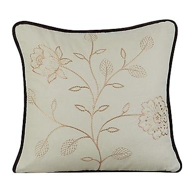 Gracious Living Bloom Cotton Throw Pillow; Fog Green
