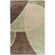 Surya Cosmopolitan Brown/Green Rug; 3'6'' x 5'6''
