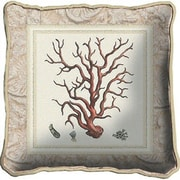 Fine Art Tapestries Coral I Throw Pillow
