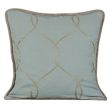 Gracious Living Amore Linen Throw Pillow; Charlotte Blue