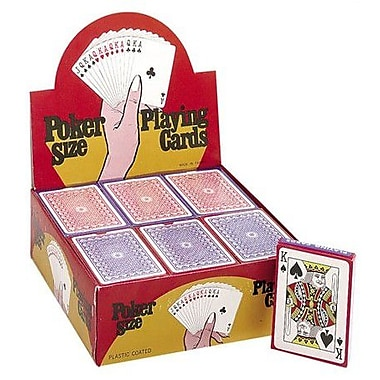 CHH Plastic Coated Paper Playing Cards (Set of 12); Big Number Cards with Jokers