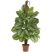 Nearly Natural Leaf Philodendron Silk Floor Plant in Pot