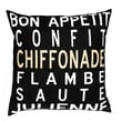 Uptown Artworks Bon Appetit Linen Throw Pillow
