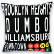 Uptown Artworks Downtown Brooklyn Linen Throw Pillow