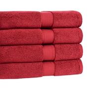 Calcot Ltd. Growers Bath Towel (Set of 4); Cranberry