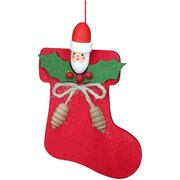 Christian Ulbricht Christmas Stocking with Santa Ornament