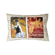 Uptown Artworks French Perfume Ads Linen Throw Pillow