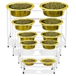 Platinum Pets Modern Diner with  Pet Bowl; 24 Karat Gold