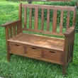 International Caravan Highland Acacia 3-Drawer Outdoor Garden Bench; Stain