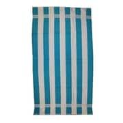 Kaufman Sales Joey Velour Stripe Beach Towel; Turquoise / White