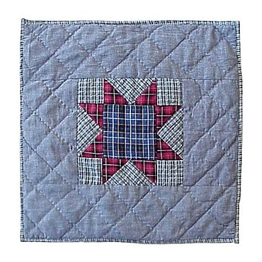 Patch Magic Denim Burst Cotton Throw Pillow