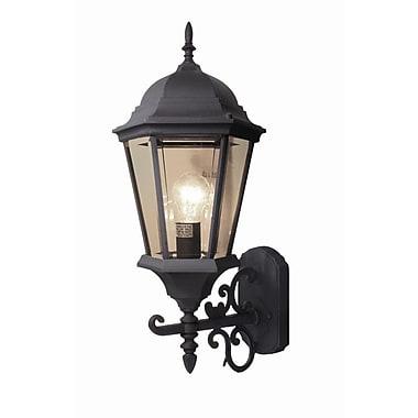 Woodbridge Basic 1 Light Outdoor Sconce; Powder Coat Black