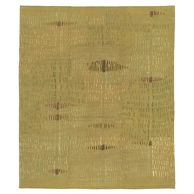 Artisan Carpets Designers' Reserve Yellow/Green Area Rug; 9' x 12'