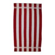 Kaufman Sales Joey Velour Stripe Beach Towel; Red / White