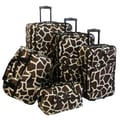 American Flyer Animal Print 5 Piece Luggage Set; Giraffe