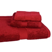 Calcot Ltd. All American Cotton Line 3 Piece Towel Set (Set of 3); Pomegranate