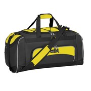 Travelers Polo & Racquet Club Adventurer 24'' Sport Duffel; Yellow / Black