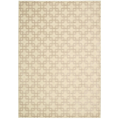 Kathy Ireland Home Gallery Hollywood Shimmer Times Square Bisque Area Rug; 3'9'' x 5'9''