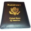 Kozmic Leather Passport Holder; Black