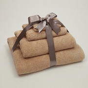 Linum Home Textiles Luxury Hotel & Spa 100pct Turkish Cotton Soft Twist 4 Piece Towel Set; Warm Sand