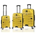 Travelers Polo & Racquet Club Mustang Series 3 Piece Luggage Set; Yellow and Black