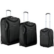 Travelers Polo & Racquet Club Sydney ''Sleek-Traveler'' 3 Piece Luggage Set; Black Glaze