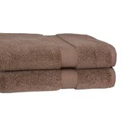 Calcot Ltd. Growers 100pct Supima Zero-Twist Cotton Oversized Bath Sheet; Cocoa