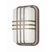 TransGlobe Lighting 1-Light Outdoor Bulkhead Light; Satin Aluminum