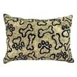 Park B Smith Ltd PB Paws & Co.Puppy Paws Polyester Lumbar Pillow