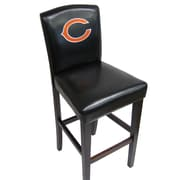 Imperial NFL Bar Stool with Cushion (Set of 2); Bears Pub Chair