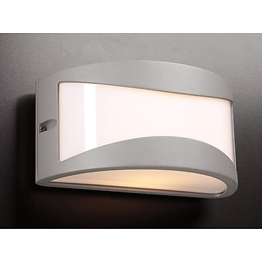 PLC Lighting Baco 1 Light Outdoor Flush Mount; Architectural Silver