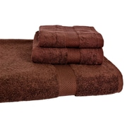 Calcot Ltd. All American Cotton Line 3 Piece Towel Set (Set of 3); Coffee Bean