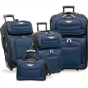 Traveler's Choice Amsterdam 4 Piece Two-Tone Luggage Set in Navy