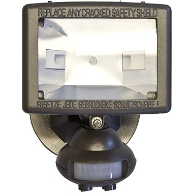 Morris Products Motion Activated Lights 1 Light Outdoor Floodlight; Bronze