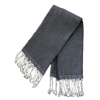 Scents and Feel Fouta Honeycomb Weave Hand Towel; Black