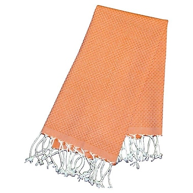 Scents and Feel Fouta Honeycomb Weave Hand Towel; Orange