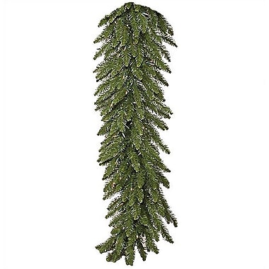 Vickerman 9' Prelit Camdon Fir Garland with Clear Lights; 9'L x12''W with Clear Lights