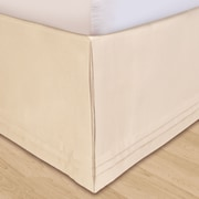 Veratex Matte Satin Bed Skirt; King
