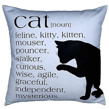 Uptown Artworks Cat Throw Pillow; Blue