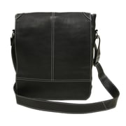 Piel Entrepreneur Messenger Bag; Black