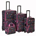 Rockland 4 Piece Luggage Set; Butterfly
